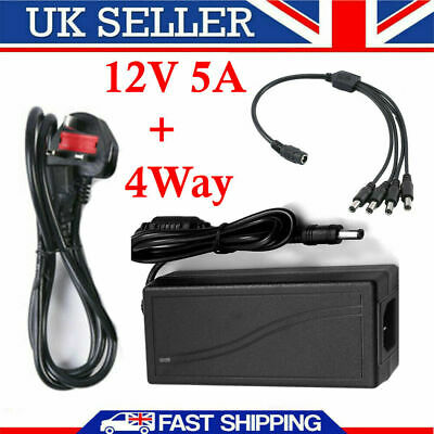 Universal 1A 12V  AC/DC Mains Power Supply Adapter Charger Transformer UK Plug