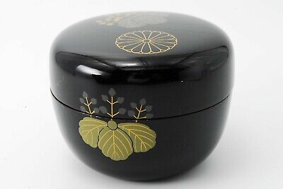 Japanese Wooden Lacquer Tea Ceremony Tea Caddy NATSUME /132