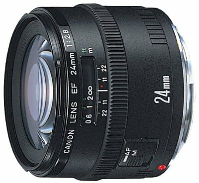 Canon Simple Focus Objectif Grand Angle Ef 24 mm F 2.8 Complet Taille Compatible