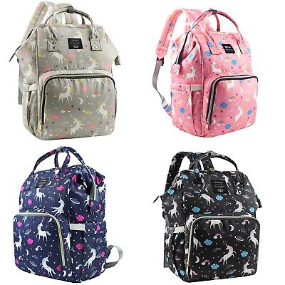 LEQUEEN Diaper Bag Backpack Baby Travel Backpack + Stroller Hook Waterproof