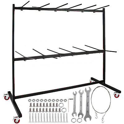 Folding Chair Rack Dolly Cart Two-Tier W/Locking Wheels Max. 50 Chairs 12 Tables