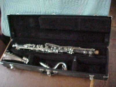Vintage Conn Boehm System Grenadilla Wood Bass Clarinet, Cleaned Repadded