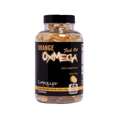 Controlled Labs ORANGE OXIMEGA FISH OIL 120 softgels PURIFIED HIGH IN DHA & EPA