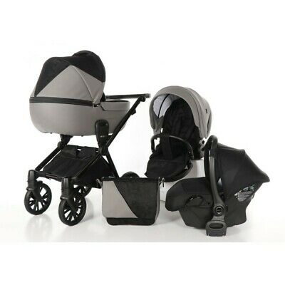 Venicci Insevio Synergy Grey Black 3 in 1 Travel System Pushchair & accessories