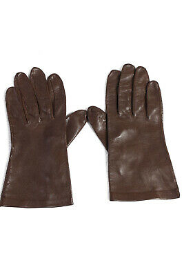 Vintage Leather Gloves   Fashion Designer Warm Winter Size M/L Brown - G65