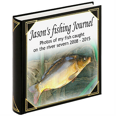 Personalised large photo album scrapbook album Fishing angling journel album