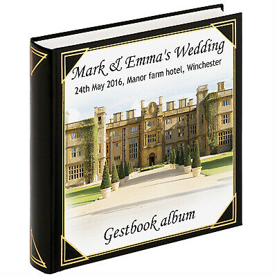 Personalised large photo album scrapbook album wedding valentine or engagement