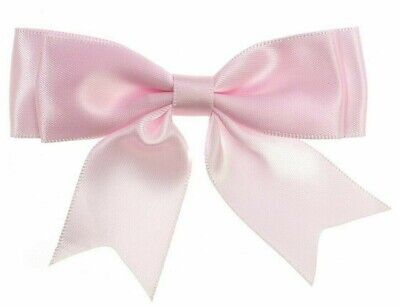 5 x BABY PINK Extra Large 10.5cm 35mm Satin Ribbon Ready Made Craft Double Bows