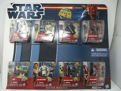 "Star Wars 2012 Hasbro Store Display ""Clone Wars""  8 Action Figures"