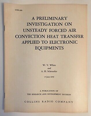 Collins Radio Unsteady Forced Air Convection Heat Transfer
