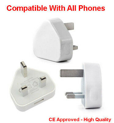 Job Lot Wholesale USB Wall 3 Pin Power Plug Charger UK Adapter Fits Sony Xperia