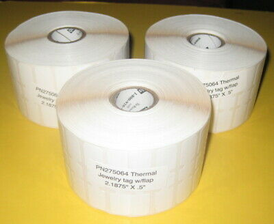 """1 Jewelry Tag Roll With Flaps 2 3//16/"""" x 1//2/"""" POS QuickBooks 2490 Labels"""