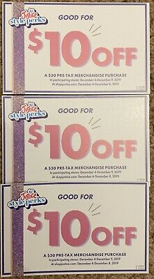 3 Justice Style Perks Coupons - $10 Off $30 Store & Online 12/4-12/8 $60 Savings