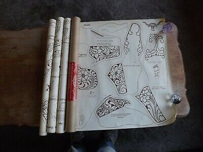 RARE Vintage 1956 F. O. Baird GUN HOLSTERS & BELTS PATTERNS SET IN TUBE 8PAGES