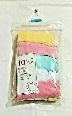 10X Girls 100%Cotton PASTEL Briefs Soft kids knickers age 2/15 YRS PRIMARK