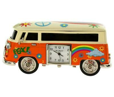 William Widdop Miniature Orange Camper Van Quartz Clock 9089