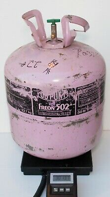 Dupont R502 Refrigerant 20 lbs in Partial 50 lb Tank