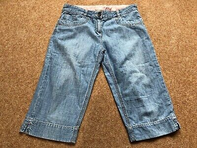 Next Girls Cropped Denim Trousers Age 12 Years