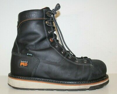 """Timberland Pro Mens Boot Sz 12 M Gridworks 8"""" Alloy Toe Waterproof Black Leather"""