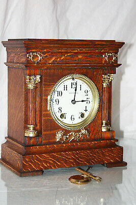 ANTIQUE SETH THOMAS SHELF MANTLE CLOCK-Totally!!-Restored- c/1900 Model CORDOVA