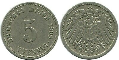 1898-A Germany 5 Pfennig 1 Coin Only 3 Available