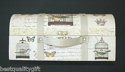New Luggage+Bird Cage,Butterfly Moment To Keep Sake Hat Box,Storage,Travel Case