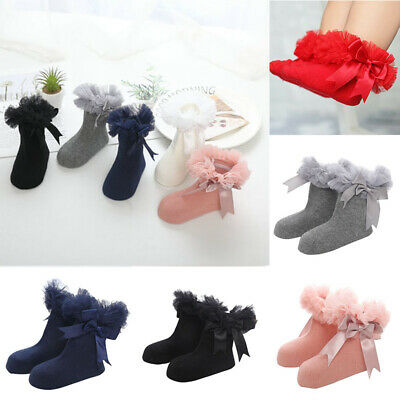 Baby Lace Girls Sock Infant Ankle Kids Princess Socks Frilly Trim Bowknot Ruffle