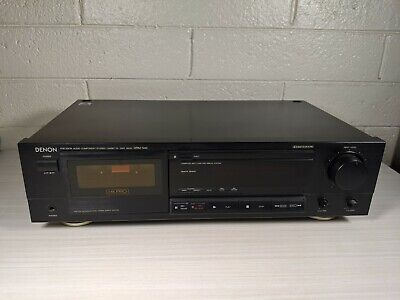 DENON DRM-540 Stereo Cassette Tape Deck Recorder Tested A+