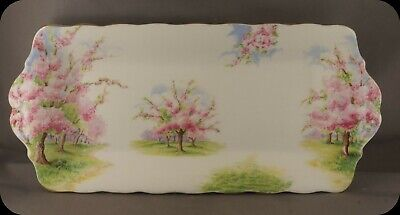 Vintage Royal Albert Blossom Time Sandwich Tray Crown circa 1935
