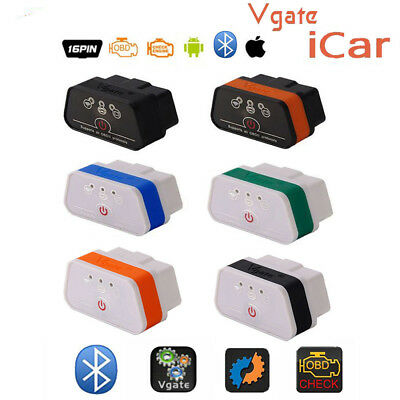 Mini ELM327 OBD Vgate ICar2 Bluetooth3.0 Code Reader Car Diagnostic Scanner Tool