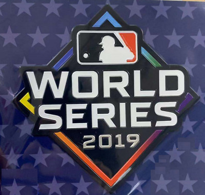 OFFICIAL 2019 MLB Astros Washington Nationals World Series Bound Plastic Patch