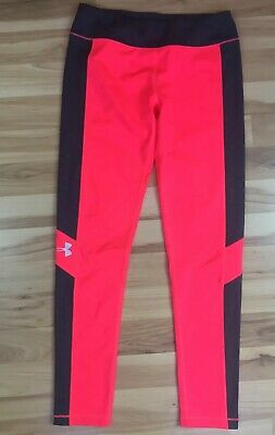 Girl's Under Armour Pants Sz 14? XL? Athletic Pink Gray Athletic Full Leggings
