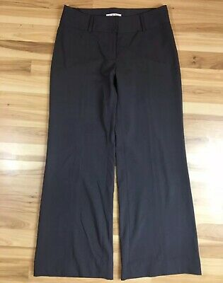 "CAbi 8 Long Gray Wide Leg Trouser PANT Stretch Pockets Inseam 32"" #337L Tailored"