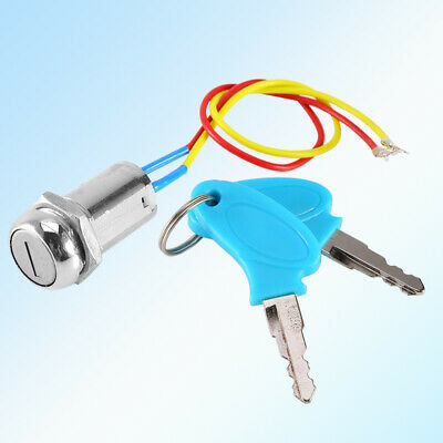 Ignition Switch Cylinder Lock + 2 Keys For Electric Scooter Bicycle