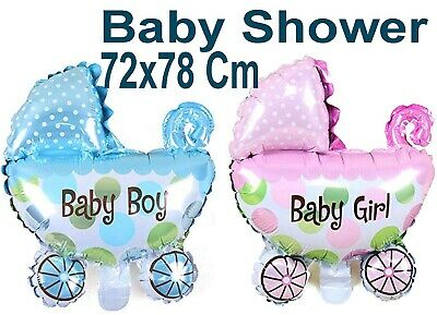 Baby Shower Party Pram  Boy & Girl Super shape Helium Foil Balloon Decoration