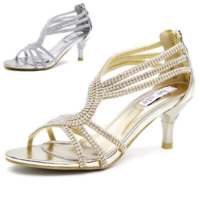 AU FREE SHIP SheSole Womens Lady Wedding Prom Party Shoes Low Heel Dress Sandals