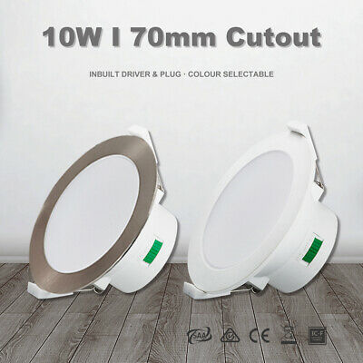 10W Led Downlight CCT Dimmable Warm/Natural/Cool White 70mm Cutout IP44 IC-4