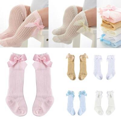 Cute Bowknot Toddler Kids Baby Girl Knee High Socks Cotton Thicken Warm Stocking