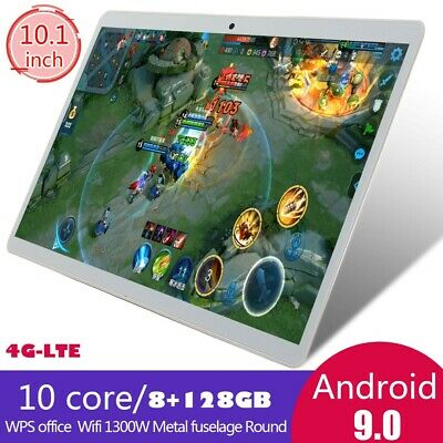 """New 8+128g 10.1"""" 4g-lte Android 9.0 2.5d HD screen dual SIM calling PC tablet"""