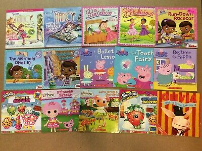 Fancy Nancy Pinkalicious Peppa Pig Lala Lot of 15 Children's Girls Picture Books