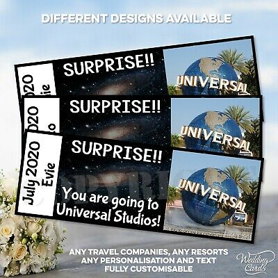 You are going to Universal Studios Orlando Florida Surprise Reveal your Ticket
