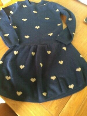Girls Knitted Dress Age 5-6 Years
