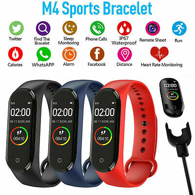 Braccialetto sportivo M4 Bluetooth Smart Watch Sports Fitness per iPhone Samsung