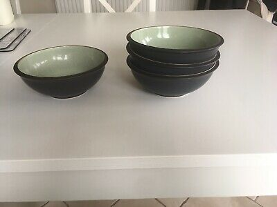 Denby Energy Charcoal / Green. Cereal, Or Soup Bowl (4 Available, £8 Each)
