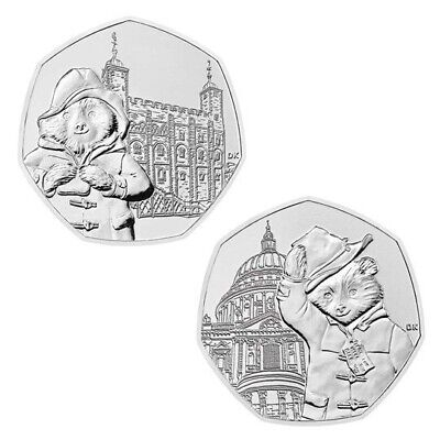 Paddington Bear 50p 2019 St. Paul's Cathedral & Tower Of London Joblot UNC New