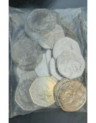 Paddington St Paul's Cathedral 2019 50p Coins Joblot sealed bag unc Bundle