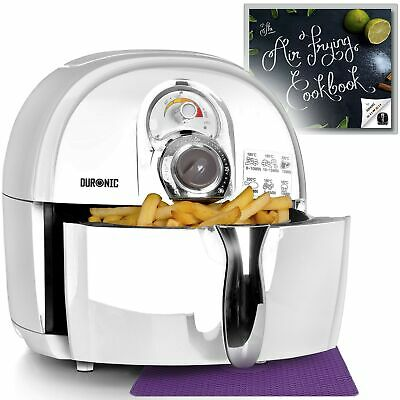 Duronic Air Fryer AF1 /W WHITE | Oil-Free & Low-Fat Healthy Cooking | Mini Ov...