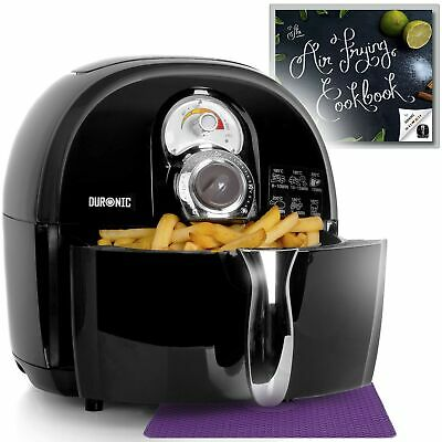 Duronic Air Fryer AF1 /B BLACK| Oil-Free & Low-Fat Healthy Cooking | Mini Ove...