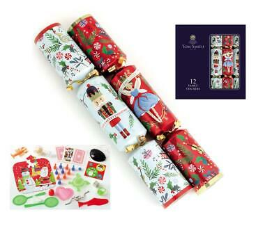 Tom Smith Box Of 12 Nutcracker Family Fun Christmas Crackers Table Decorations