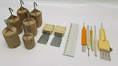 Knitting Machine Weights Accessories Bundle Job lot Brother Knitmaster Etc